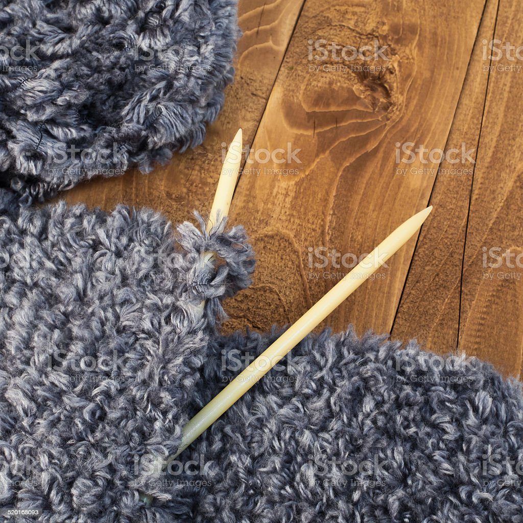 Knits with spokes stock photo