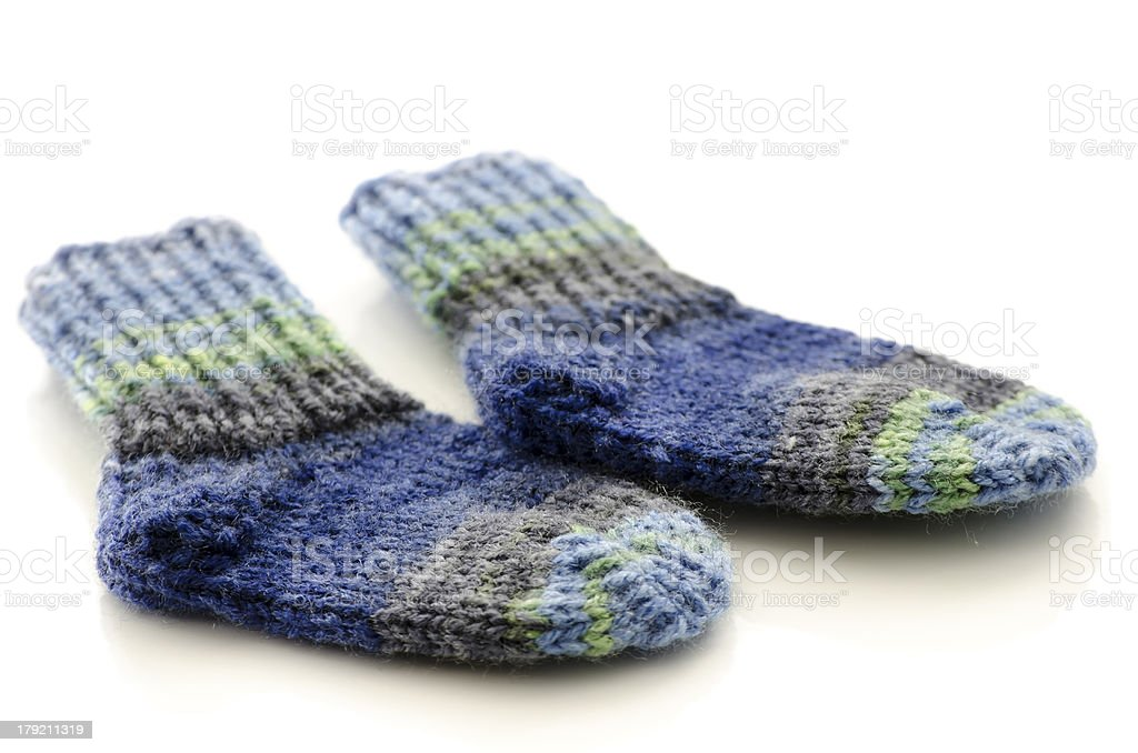 Knitted baby socks royalty-free stock photo