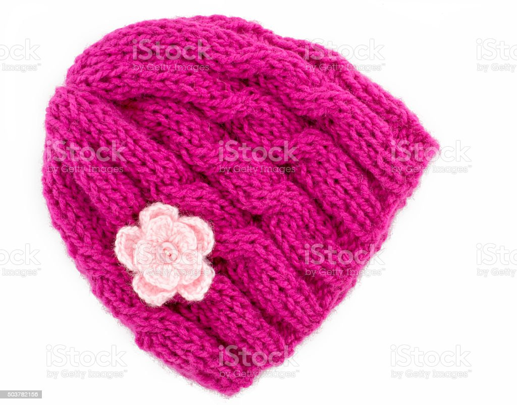 Knitted Beanie hat stock photo