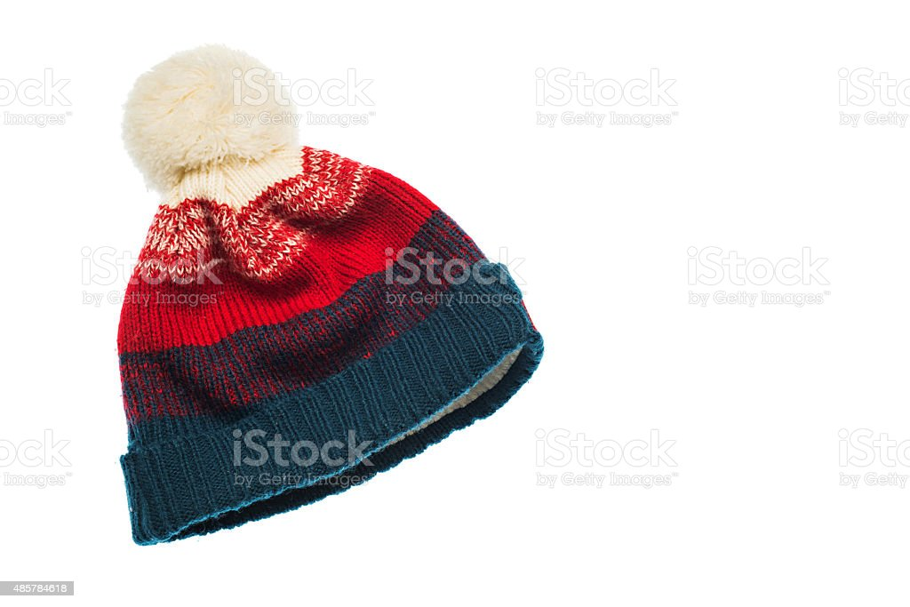Knitted beanie stock photo