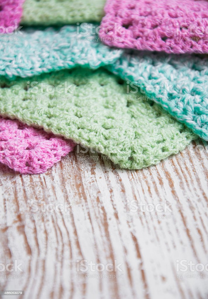 Knitted Detail stock photo
