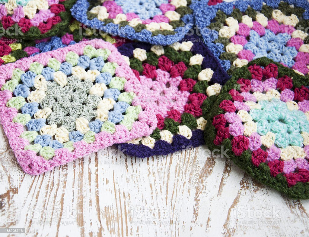Knitted Fabric Detail stock photo