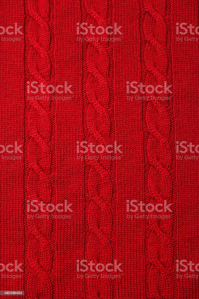 Knitted fabric - woolen texture stock photo