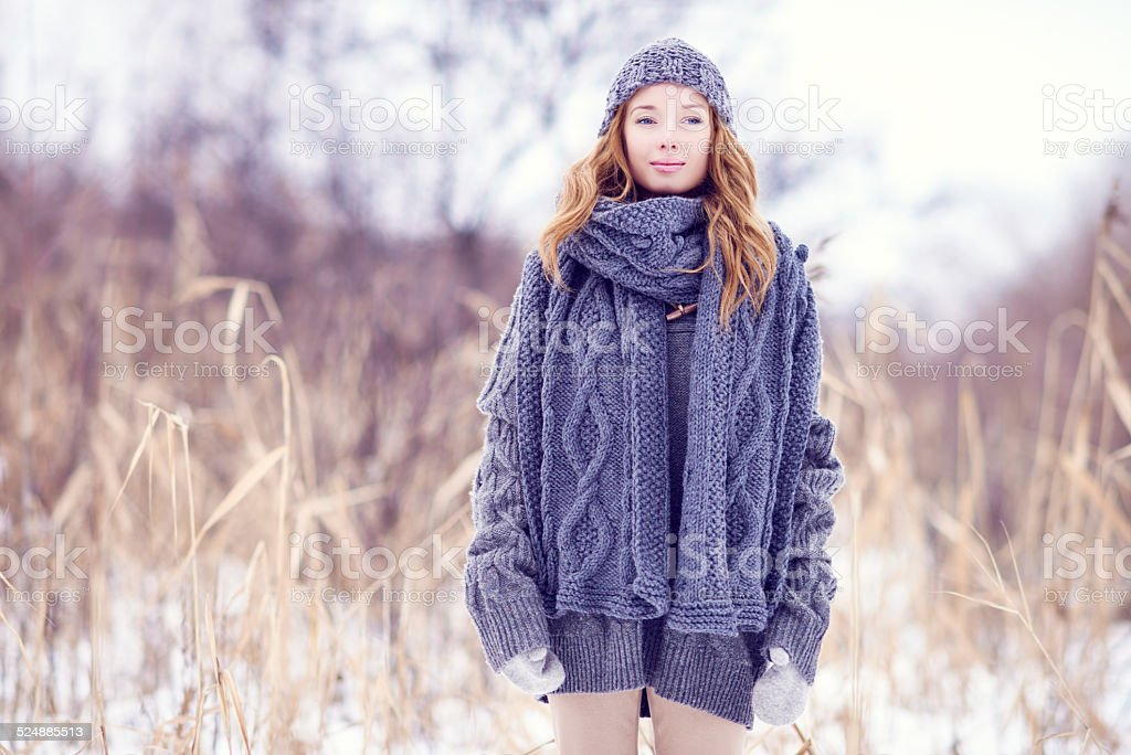 Knitted fashion stock photo