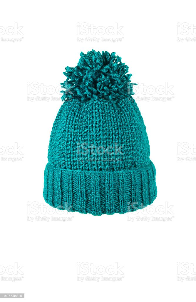 knitted hat handmade stock photo