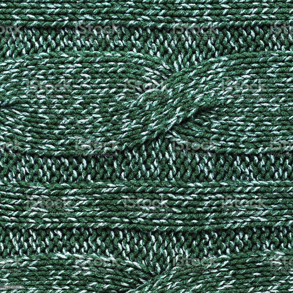 knitted jersey green background with a relief pattern. High reso royalty-free stock photo