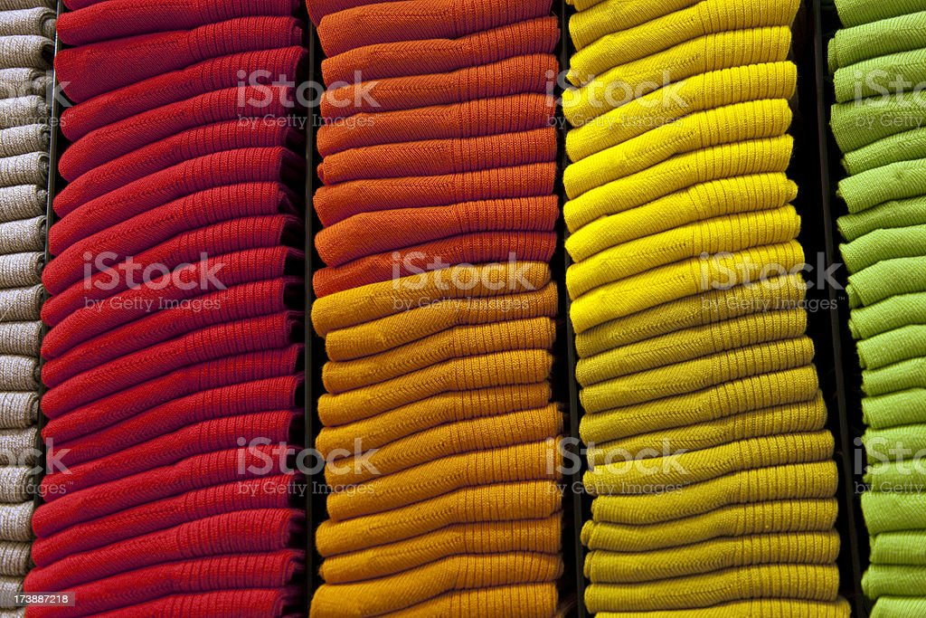 Knitted multicolor socks royalty-free stock photo