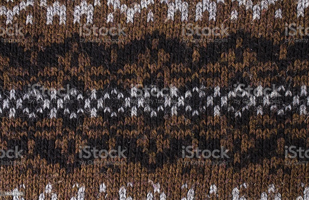 Knitted ornamental sweater background texture. High resolution royalty-free stock photo