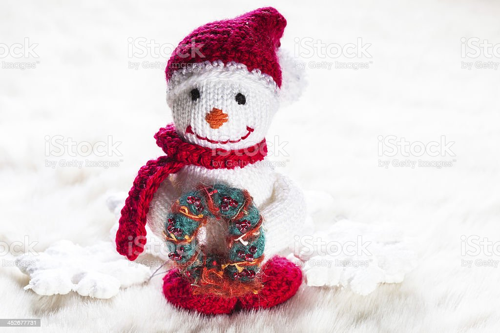 Knitted snowman royalty-free stock photo