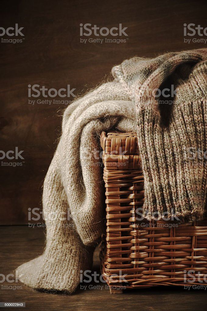 Knitted sweaters royalty-free stock photo