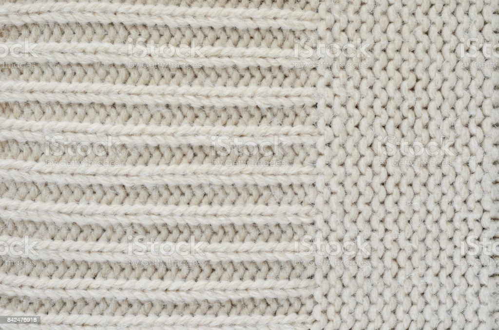 Knitted Texture Close-up stock photo
