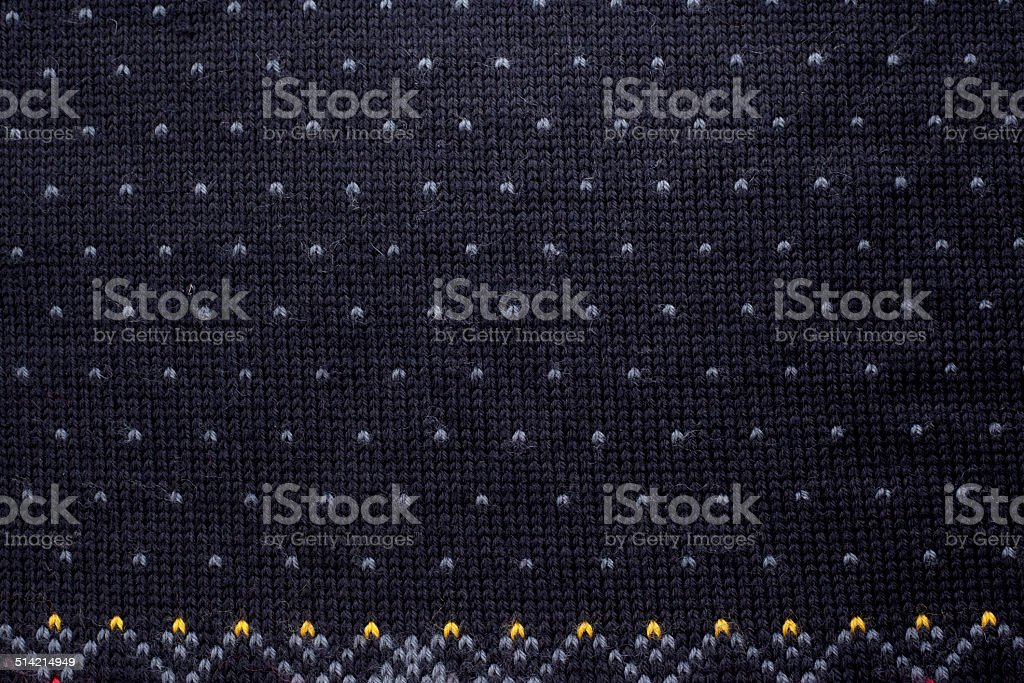 knitted wool pattern background in Fair Isle style stock photo