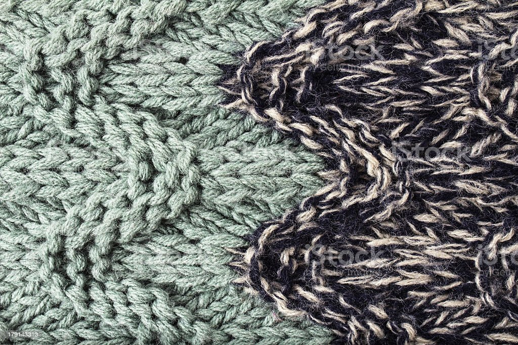 Knitted woolen fabric multicolor texture. High resolution royalty-free stock photo