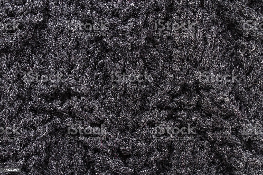 Knitting background texture dark color. High resolution royalty-free stock photo