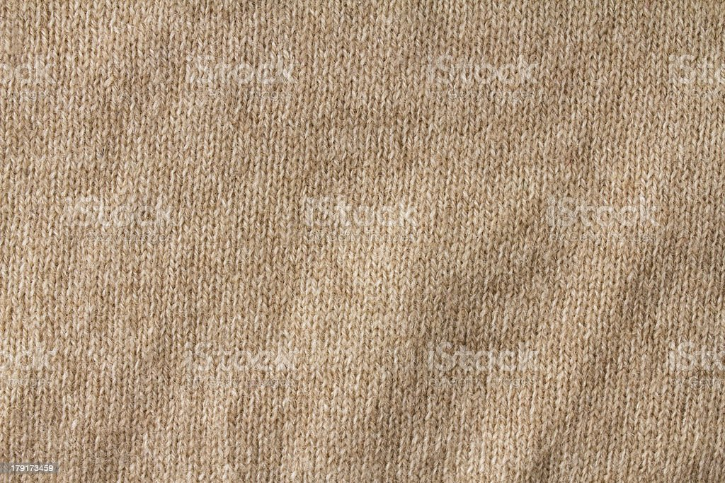 Knitting background texture light beige color. High resolution K royalty-free stock photo