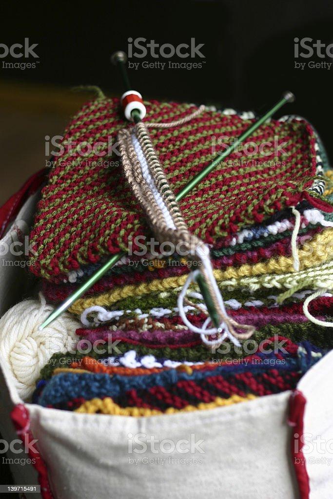 Knitting Bag royalty-free stock photo