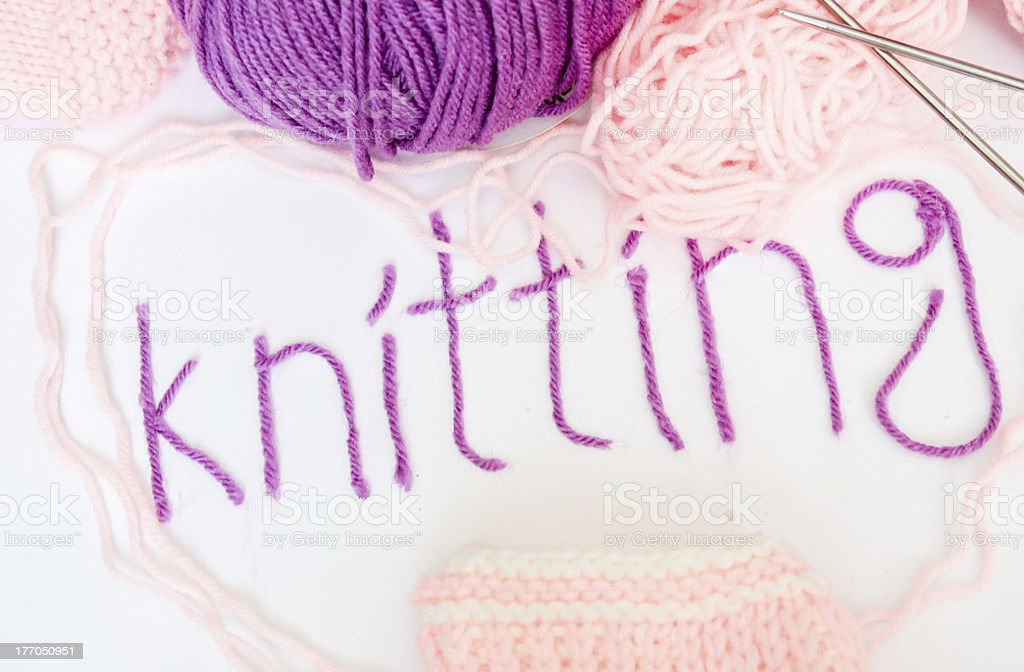 Knitting. Crafts. royalty-free stock photo
