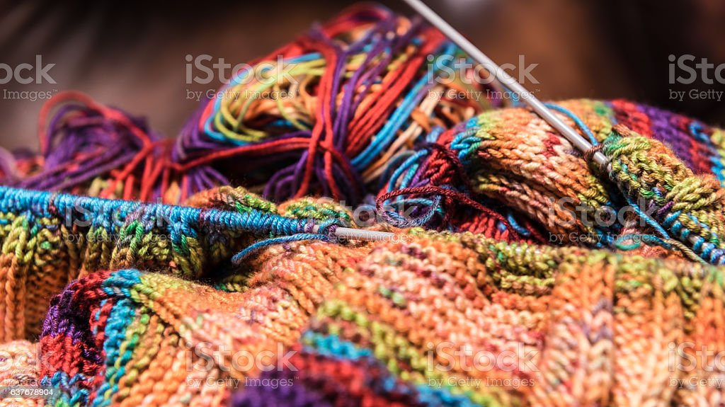 Knitting  handcraft stock photo