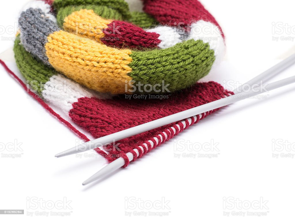 knitting isolated stock photo