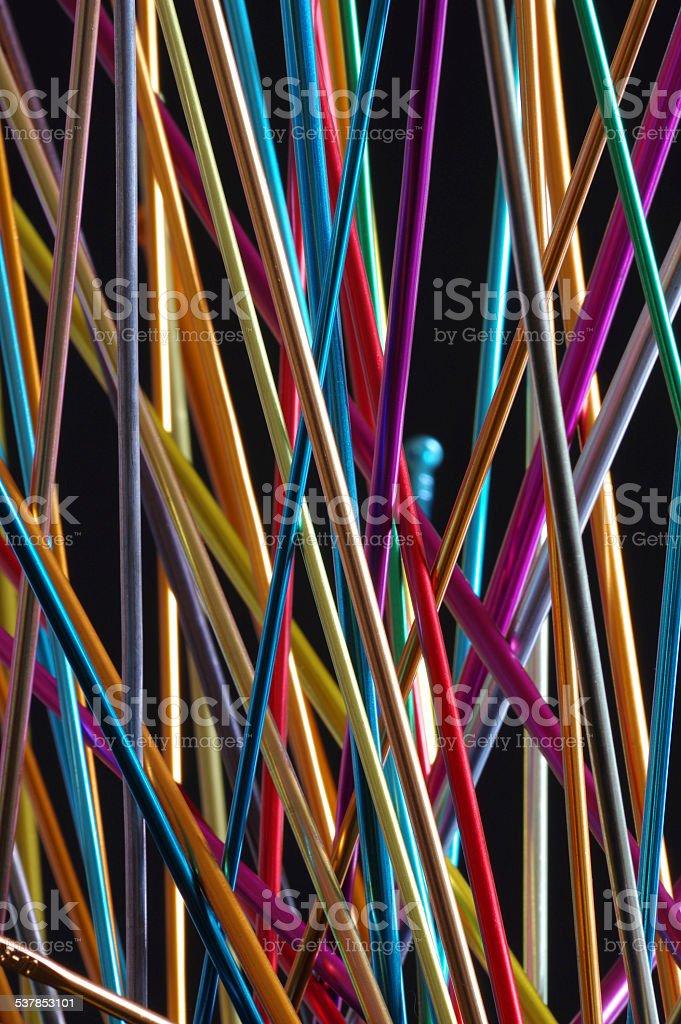knitting needle backgrounds stock photo