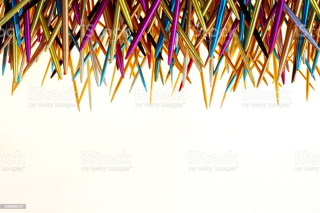 knitting needle isolated objects backgrounds stock photo