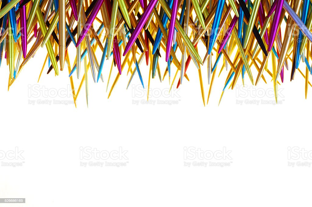 knitting needle isolated objects stock photo
