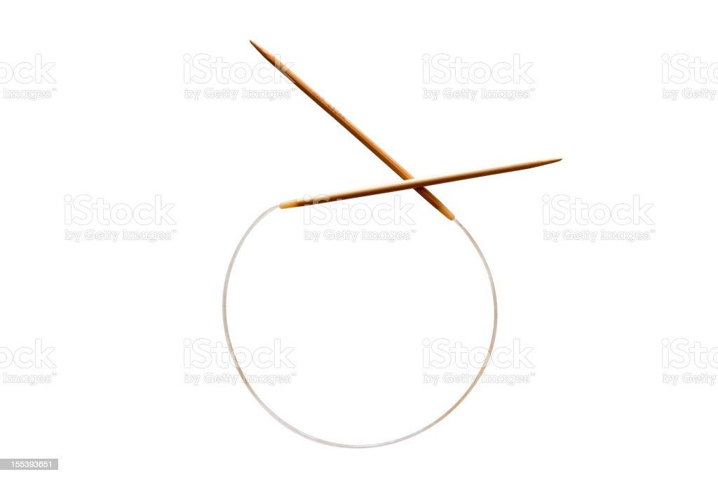 Knitting needle stock photo