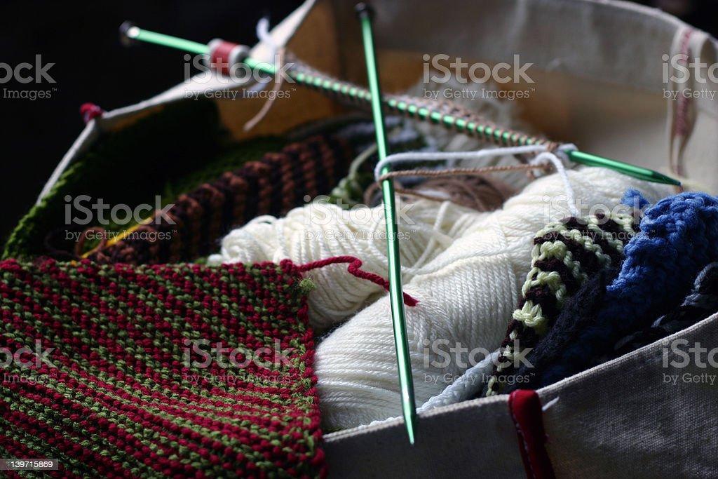 Knitting Needles royalty-free stock photo