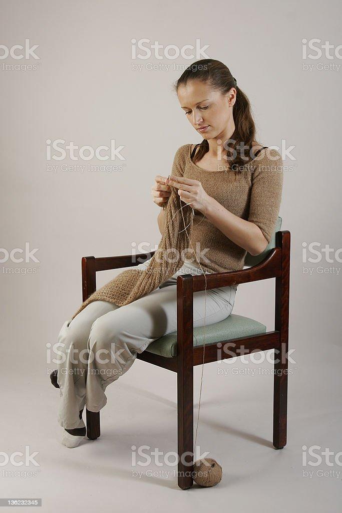 Knitting royalty-free stock photo
