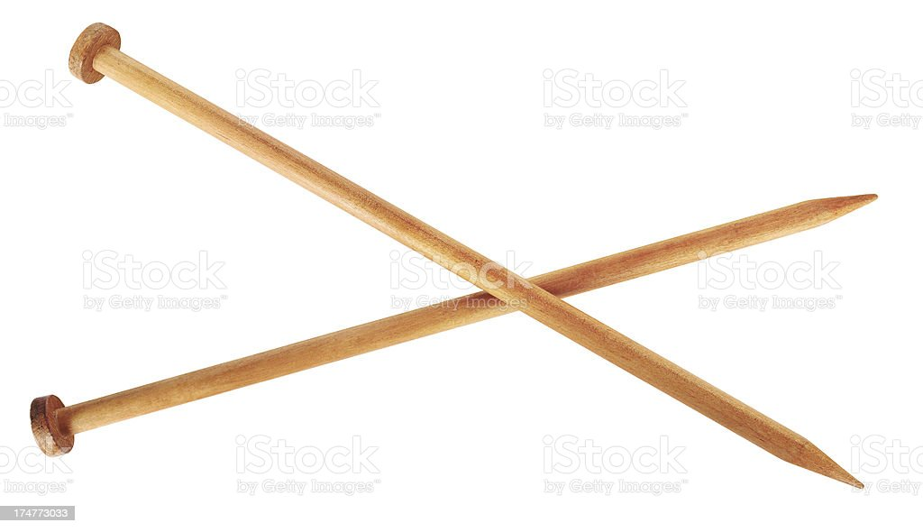 Knitting Pins stock photo