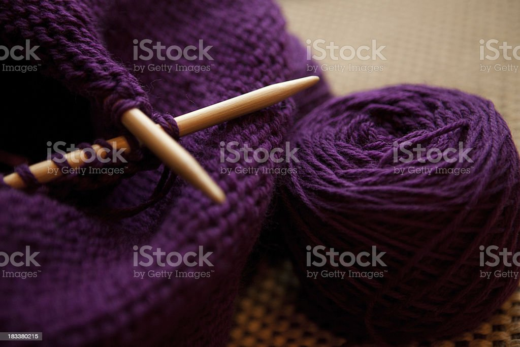 Knitting project royalty-free stock photo