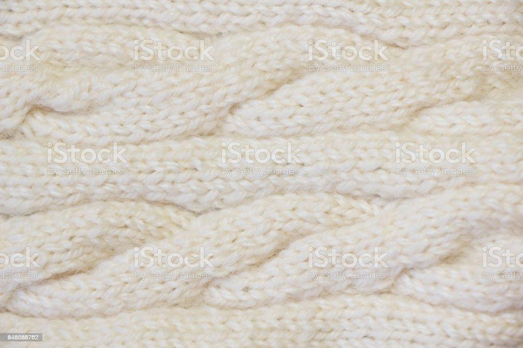 Knitting woolen texture stock photo