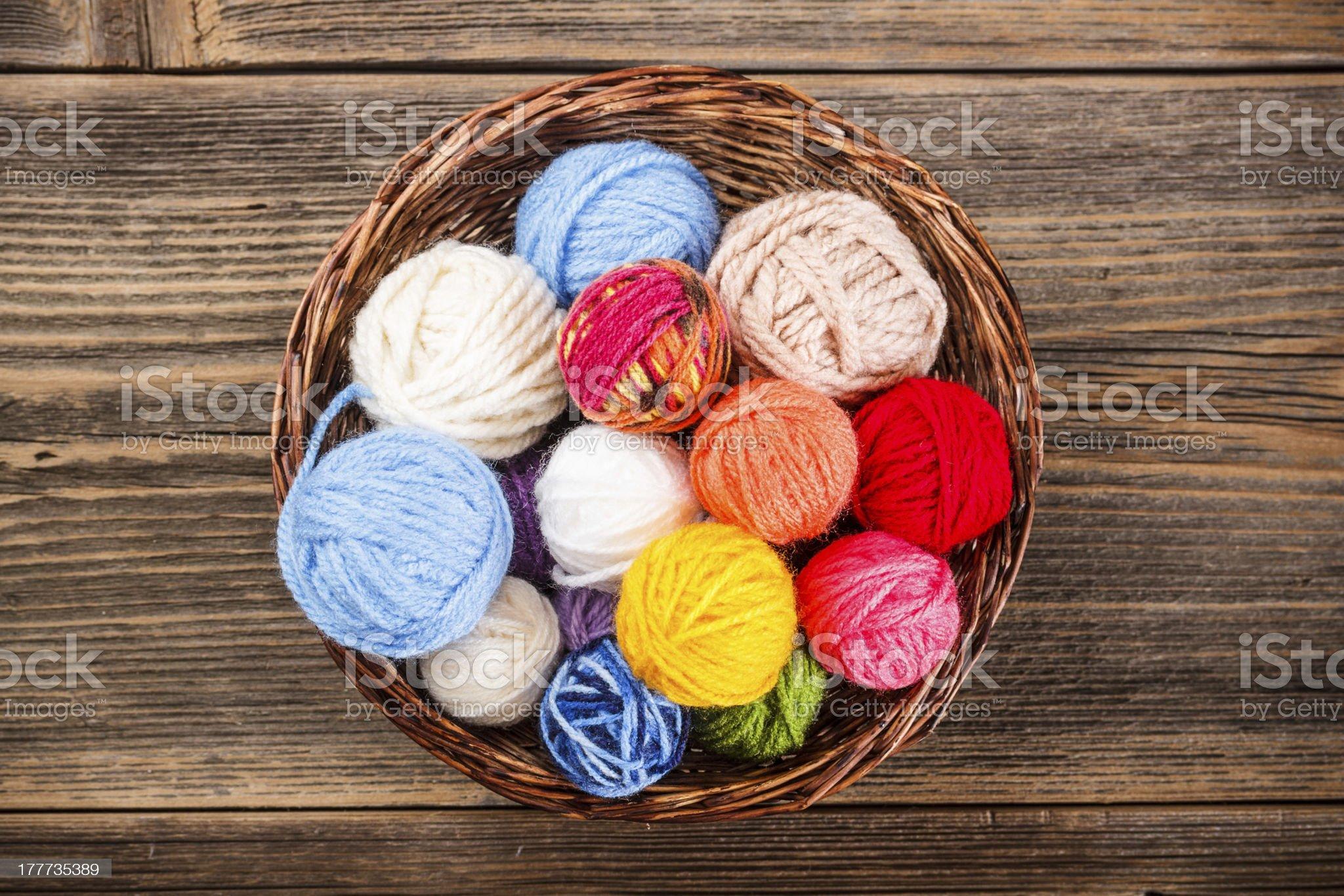 Knitting yarn balls royalty-free stock photo