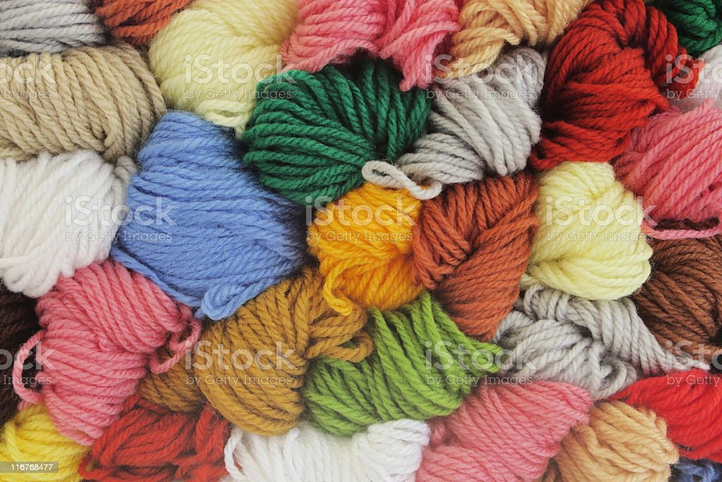 Knitting Yarn Craft Pastime Wool royalty-free stock photo
