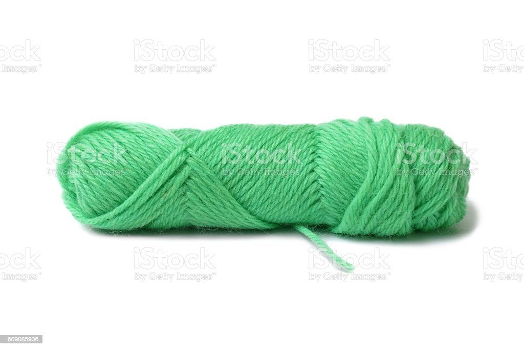 Knitting yarn on white stock photo