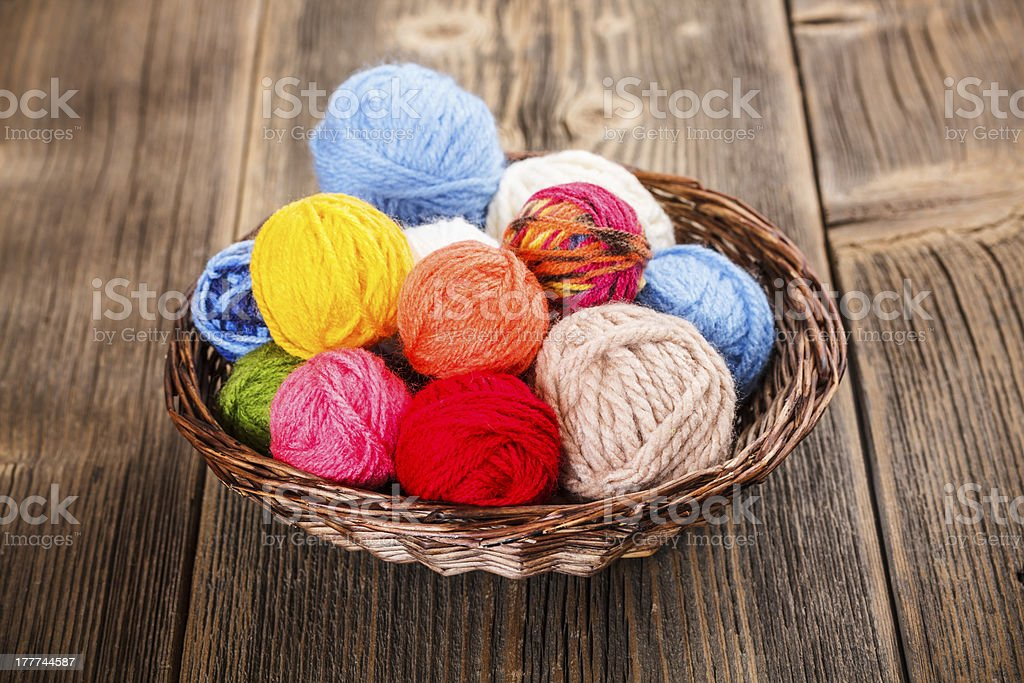 Knitting yarn royalty-free stock photo