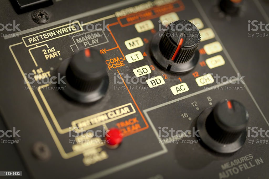 Knobs and buttons macro stock photo