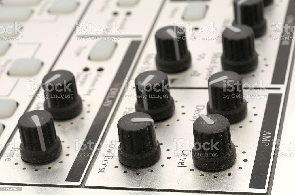 Knobs on a Drum Machine stock photo