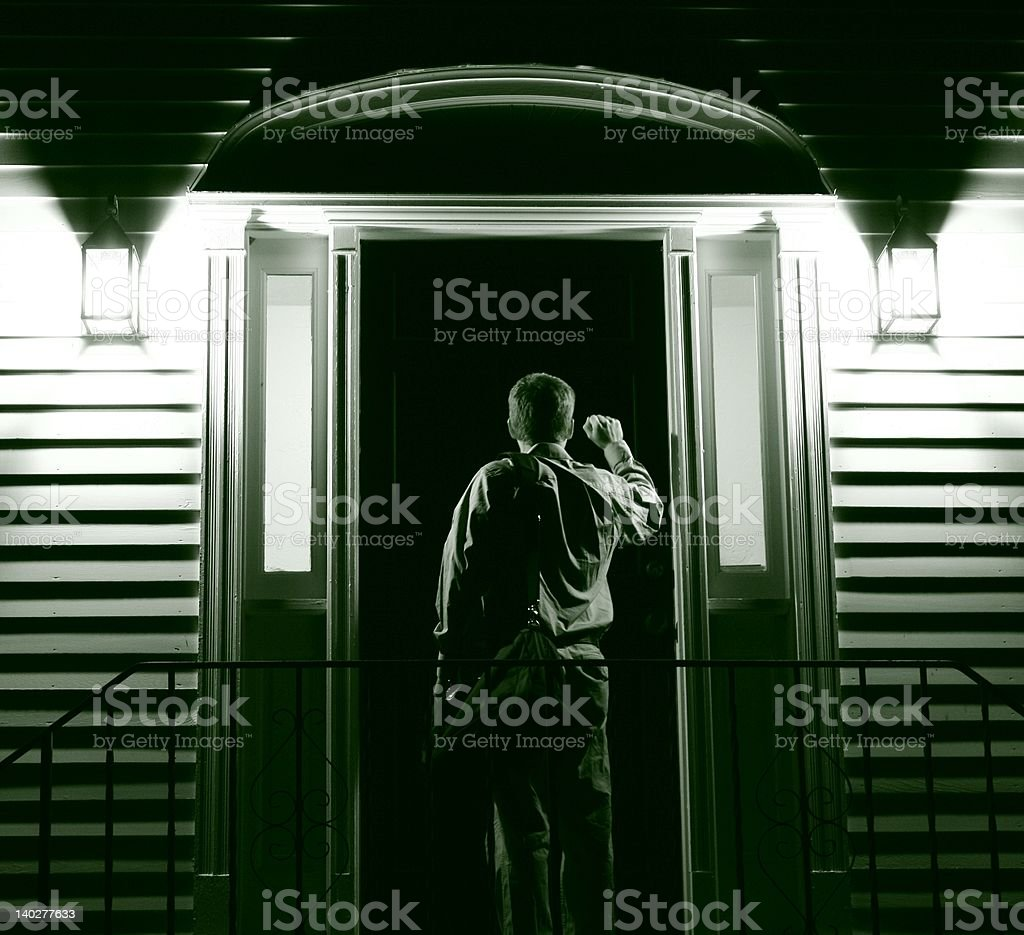 Knock at the Door royalty-free stock photo