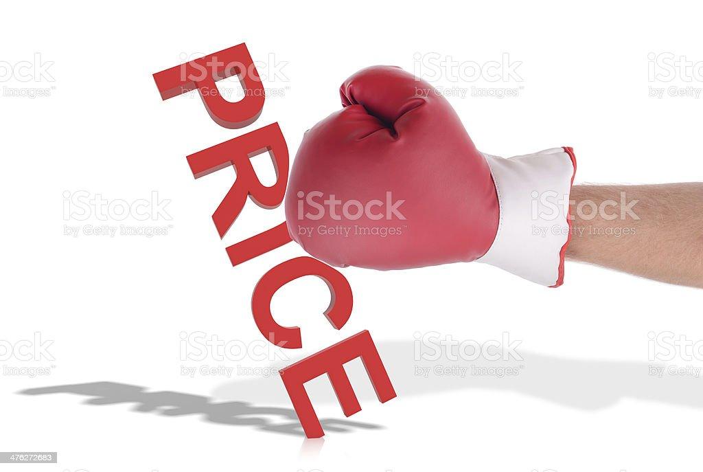 knock down price royalty-free stock photo