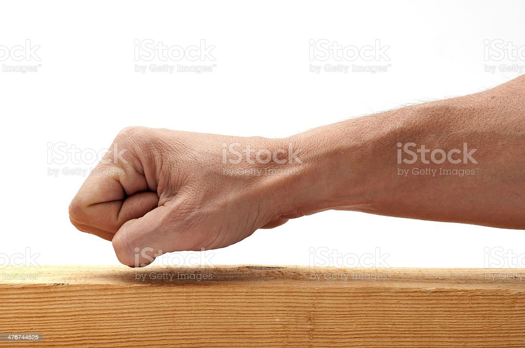 Knock Knock stock photo