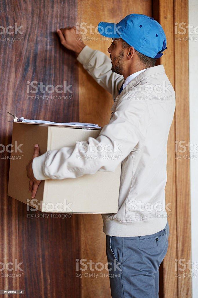 Knock knock! stock photo