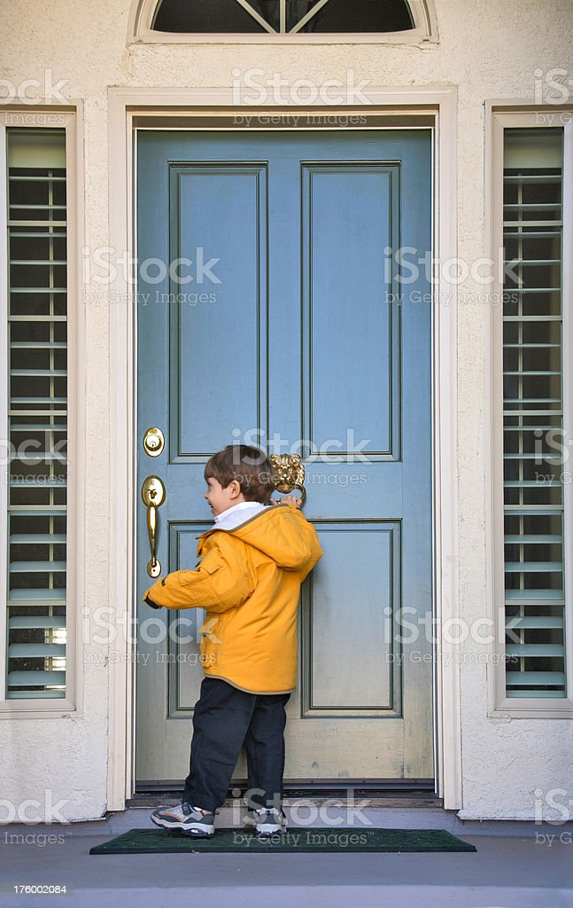 Knock on a Door royalty-free stock photo