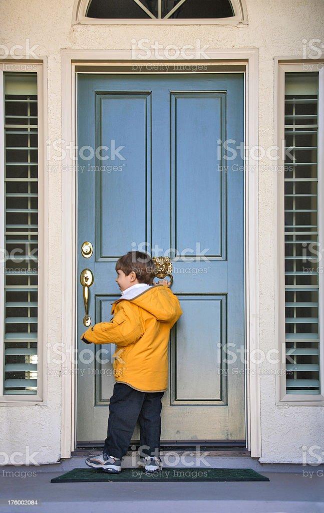Knock on a Door stock photo