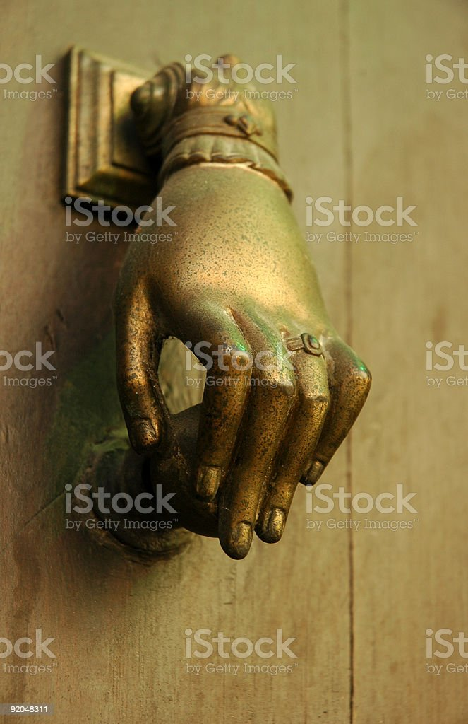 Knock royalty-free stock photo