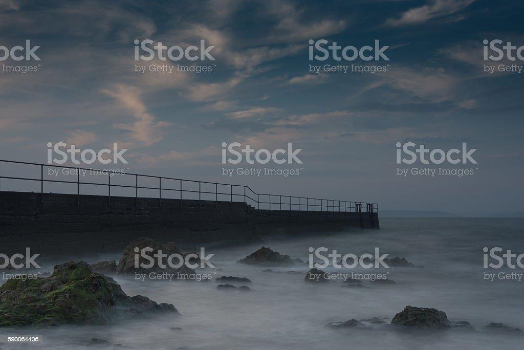 Knockadoon Harbour stock photo