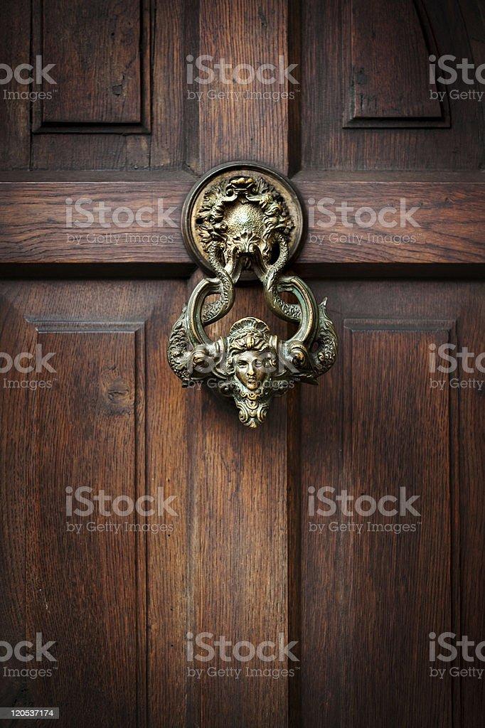 Knocking on Dracula's door stock photo