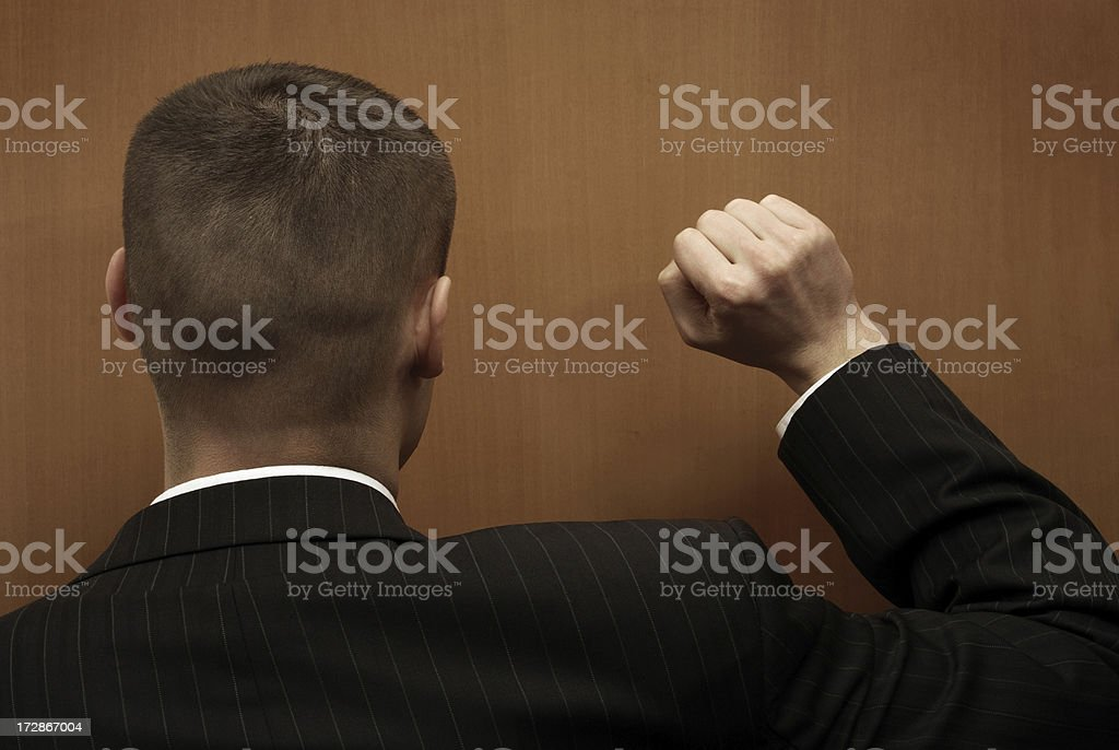 Knocking. stock photo