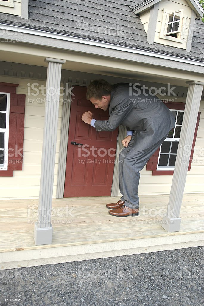 Knock-Knock May We Come In? royalty-free stock photo