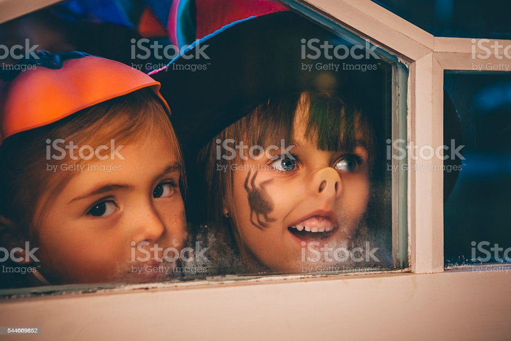 Knock-Knock! stock photo